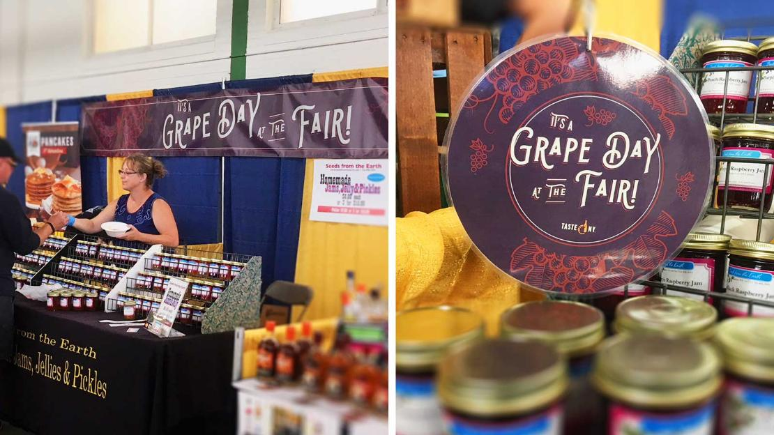 Grape Day at the NYS Fair Banner