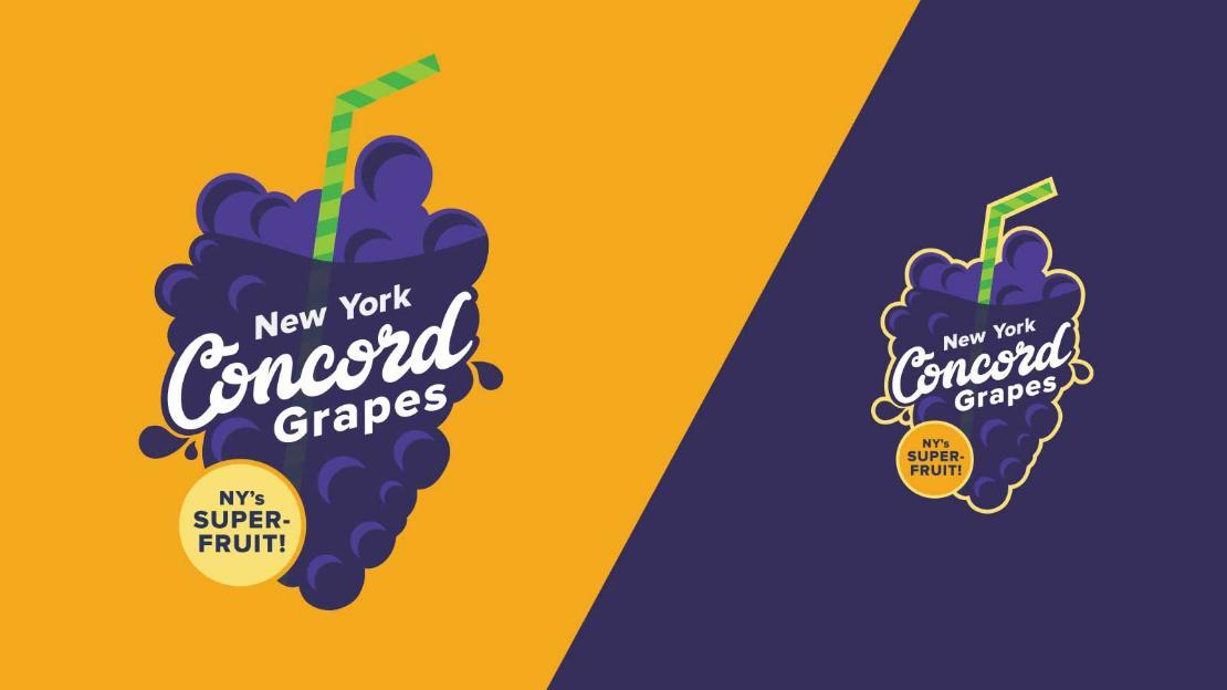New York Concord Grapes Logo